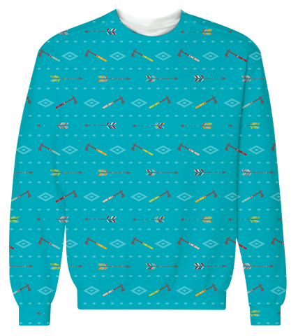 """Bows & Hatchets"" Crewneck Sweatshirt"
