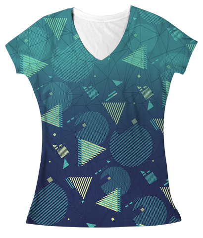 """Fresh Prints""  Women's V-neck"