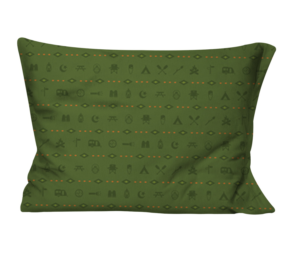 """Happy Camper"" Pillow Case"