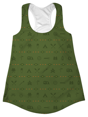 """Happy Camper"" Racerback Tank Top"