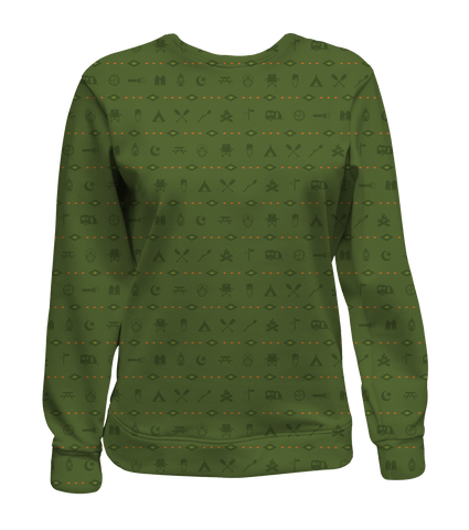 """Happy Camper"" Women's Crewneck Sweatshirt"