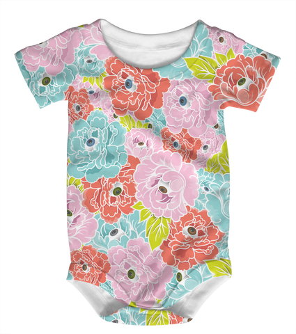 """Flower Eyes"" Baby Onesie"