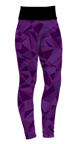 """Purple Geo"" Leggings"