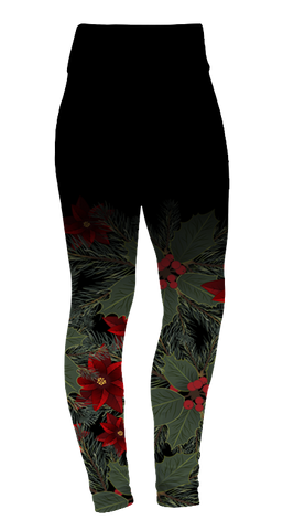 """Poinsettia"" Leggings"