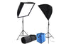 Professional studio lighting kit full spectrum CFL bulbs cases stands and carry case