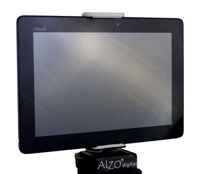 ALZO Adjustable Tripod Mount for iPad, Readers, Android Tablets on tripod