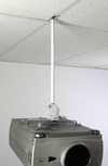 ALZO Suspended Drop Ceiling Video Projector Mount with projector