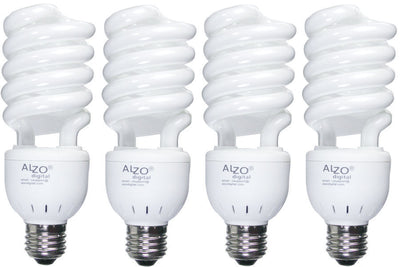 ALZO 27W CFL Photo Light Bulb 5500K pack of 4