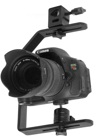ALZO Upright Camera Ceiling Mount with DSLR camera