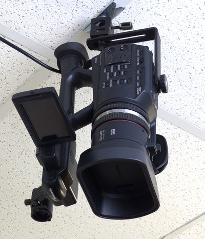 ALZO Suspended Drop Ceiling Face Down Camera Mount L-Bracket with camera