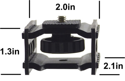 ALZO Audio Recorder Shock Mount for Zoom dimensions