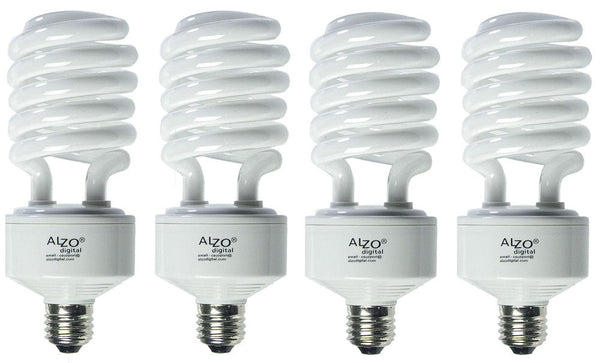 ALZO 45W CFL Video-Lux® Photo Light Bulbs 3200K, 2800 Lumens, 220V, Pack of 4
