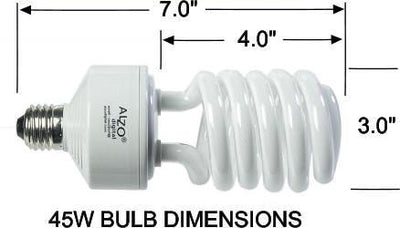 ALZO 45W CFL Video-Lux® Photo Light Bulb 5600K dimension diagram