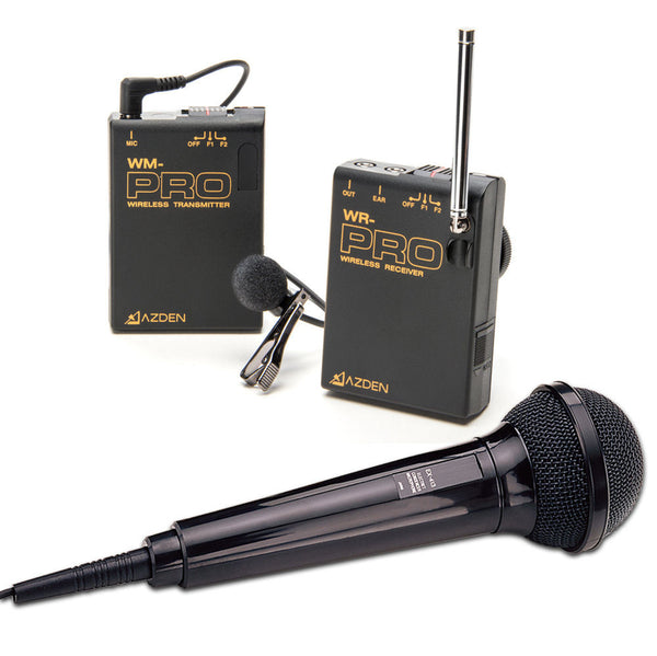 AZDEN Wireless Mono Kit Lav and HH-Wired Microphone