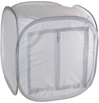 ALZO Photo Light Tent 14 Inch Cube Kit with Paper Grips door closed