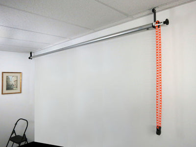 ALZO Suspended Drop Ceiling Background Support Kit installed