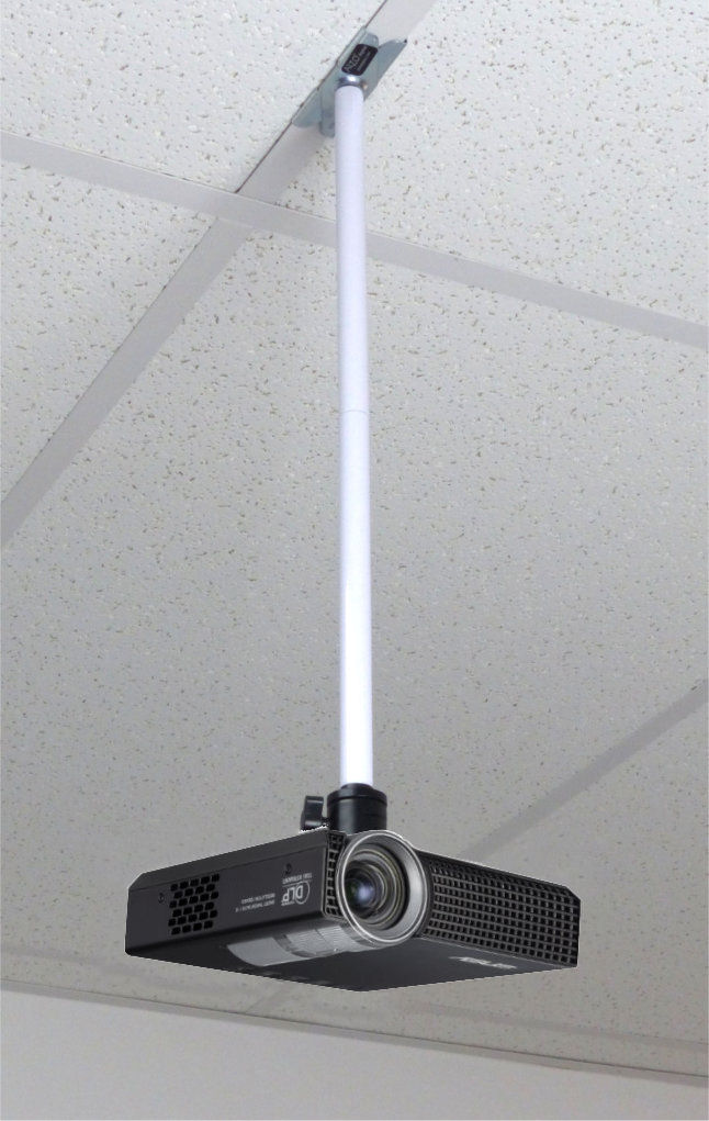 Perfect ALZO Drop Ceiling Video Pico Mini Projector Mount With Projector