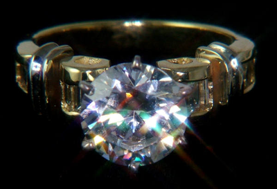 ALZO Sparks Light for Jewelry and Gemstone Product Photography diamond ring sample