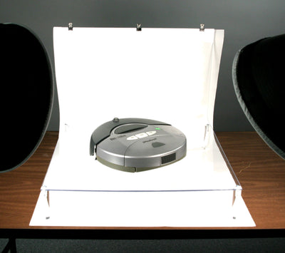 ALZO Clear Riser Photo Platform for Shadowless Product Photography demo object