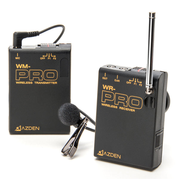 AZDEN WLX-PRO+i Wireless Mono Lavalier Microphone Kit with Smartphone Adapter Cord