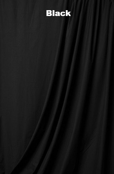 Photo Backdrop Muslin Fabric Solid Color black