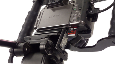 ALZO Liberator Battery Door Clearance Plate for Panasonic Lumix G7 on tripod