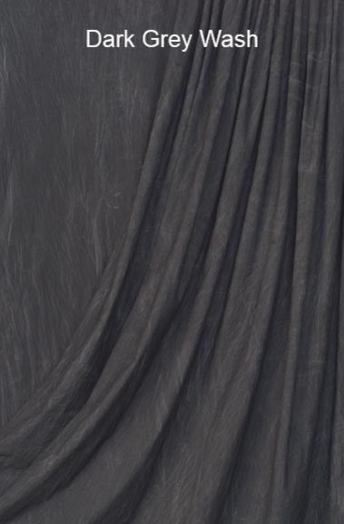 Muslin Photo Backdrop Dark Grey Wash