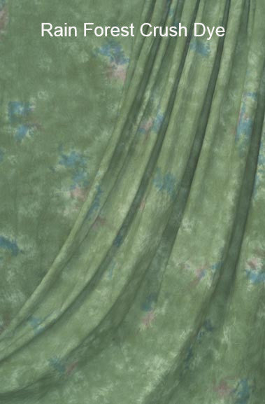 Muslin Photo Backdrop Rain Forest Crush Dye