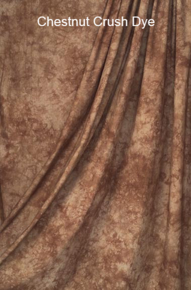 Muslin Photo Backdrop Chestnut Crush Dye