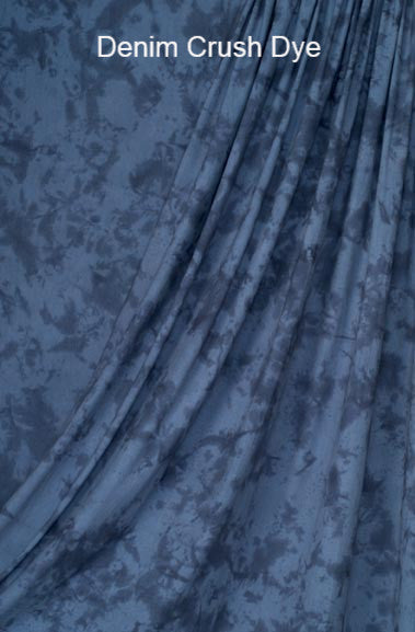Muslin Photo Backdrop Denim Crush Dye