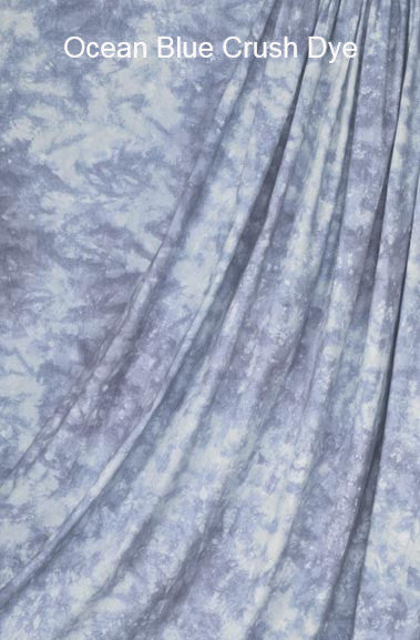 Muslin Photo Backdrop Ocean Blue Crush Dye