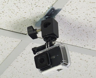 ALZO Suspended Drop Ceiling Action Camera Mount for GoPro with camera on ceiling