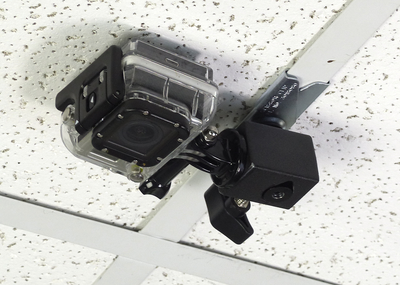 ALZO Suspended Drop Ceiling Action Camera Mount for GoPro on ceiling face down
