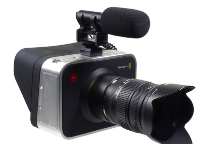 ALZO Cold Shoe Mount for Blackmagic Cameras with mic front angle
