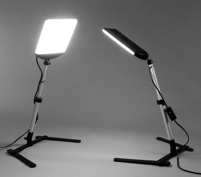 ALZO 100 LED Table Top Platform Light Kit twin lights