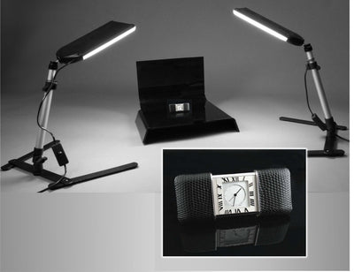 ALZO 100 LED Table Top Platform Light Kit with clock demo