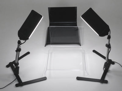 LZO 100 LED Table Top Platform Light Kit with Black & Clear Shooting Tables