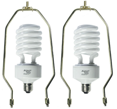 10 Inch Lamp Harp for up to 50W Energy Saving Compact Fluorescent CFL Light Bulbs demo