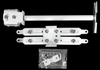 ALZO Short Suspended Drop Ceiling Video Projector Mount with Scissor Clamp for T-Bar Attachment parts