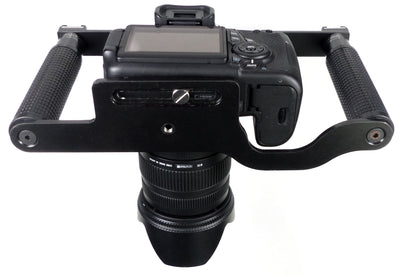 ALZO Transformer DSLR Rig, Camera Cage Bracket with Shoe Mounts and Hand Grips
