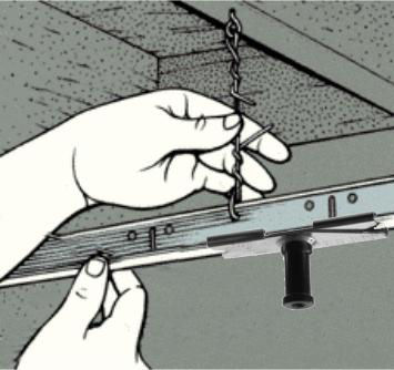 ALZO Suspended Drop Ceiling Photo Video Light Mount Kit installation illustration