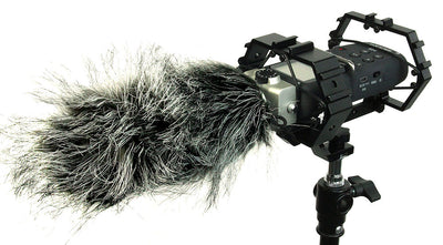 ALZO Shock Multi-Mount for Audio Recorders and Shotgun Microphones Plus Gear with wind muff