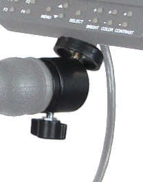 ALZO Mini Ball Mount Accessory on handle