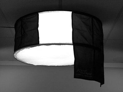 Black Fabric Flags for ALZO Drum Light on diffuser