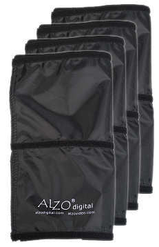Black Fabric Flags for ALZO Drum Light, Set of 4