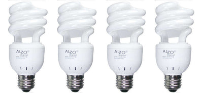 ALZO 15W Joyous Light® Full Spectrum CFL Light Bulb 5500K 4-pack