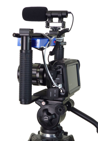 Cage Bracket for BMPCC-4K cinema camera plus with camera demo on tripod