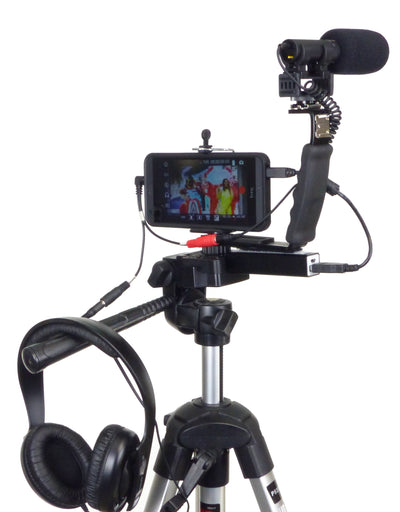 ALZO Smartphone Streaming Video Rig with Mic Headphone Breakout Cord with gear