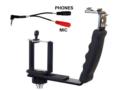ALZO Smartphone Streaming Video Rig with Mic Headphone Breakout Cord