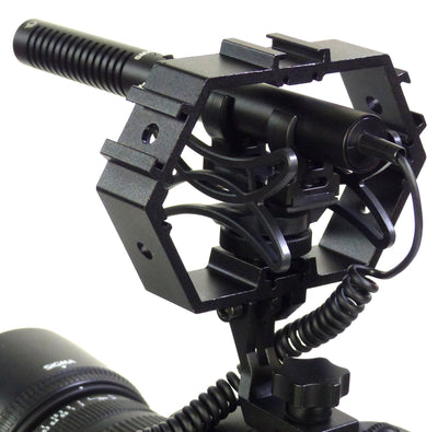 AZDEN SGM-990+i Mono Shotgun Mic with ALZO Multi-Mount back angle